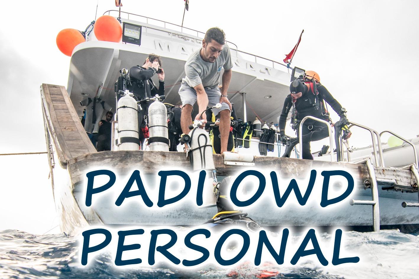 Kurz potápění PADI Open Water Diver Personal