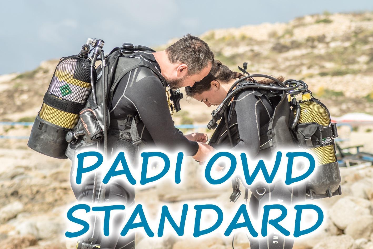 Kurz potápění PADI Open Water Diver Standard