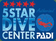 PADI 5 star dive center